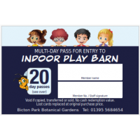 Play-Barn 20 visit pass (members only)